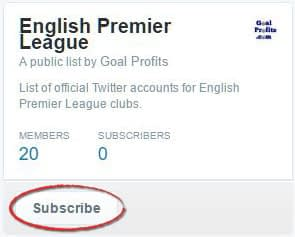Twitter list subscribe button