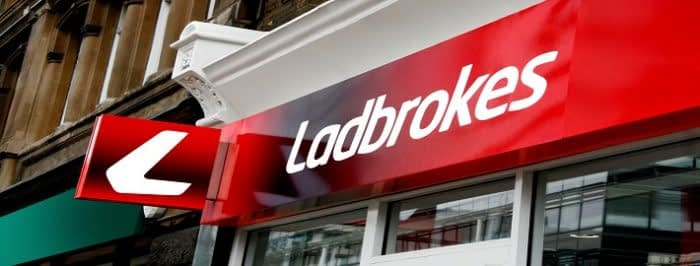 A Ladbrokes betting shop on the highstreet.