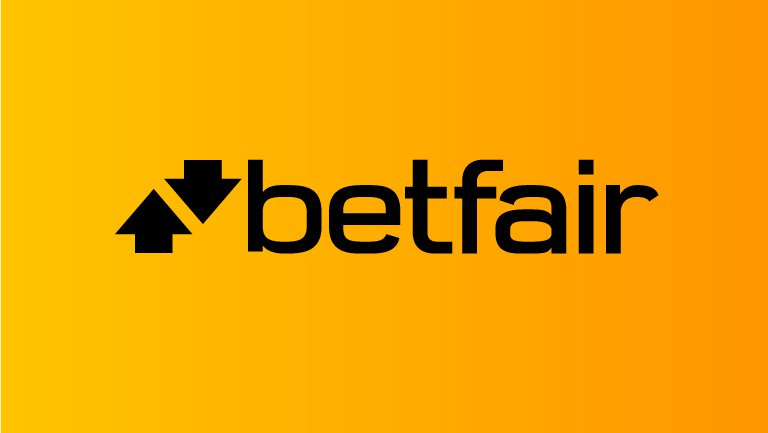 The Betfair logo, on the well known orange brand colour.