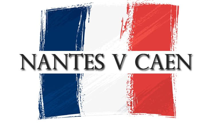 """French flag with """"Nantes v Caen"""" text"""