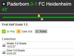 Live Stats Module example (Paderborn v Heidenheim): Betfair market