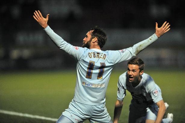 O'Brien celebrating a goal
