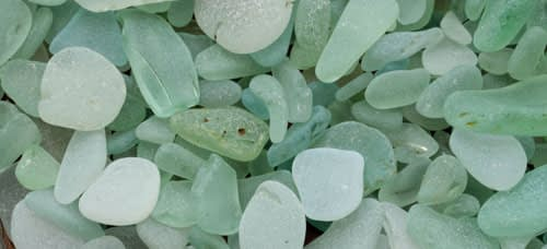 Pieces of seafoam green sea glass