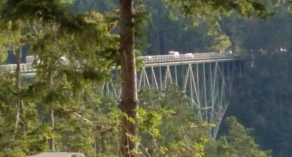 View of Deception Pass Bridge Washington State