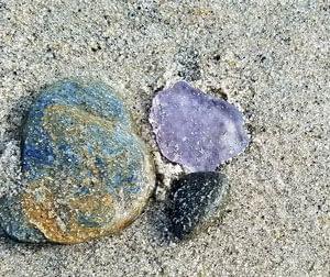 Lavender sea glass Capo Beach, California.