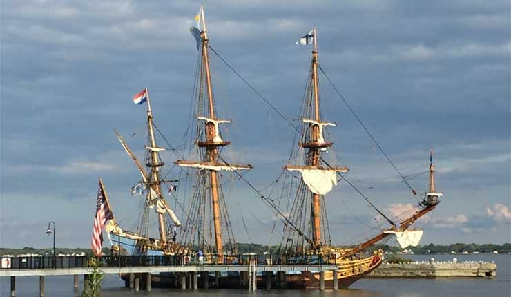 tall ship battery park new castle delaware
