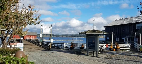 View of Historic Coupeville Wharf.