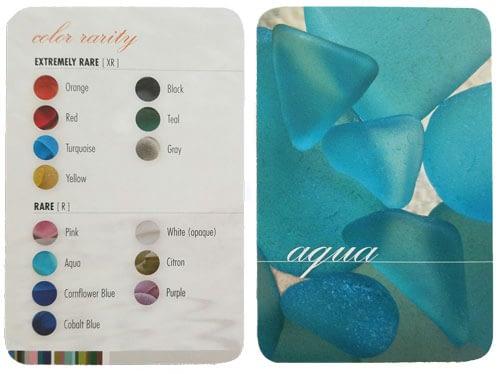 Pure Sea Glass Identification Cards