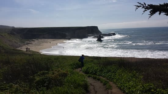 View of Davenport Beach cove in California.
