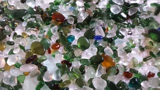 Sea glass collected on Seaham Hall Beach in February 2016