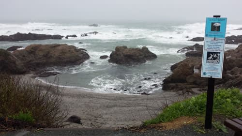 Glass Beach, Fort Bragg during a storm