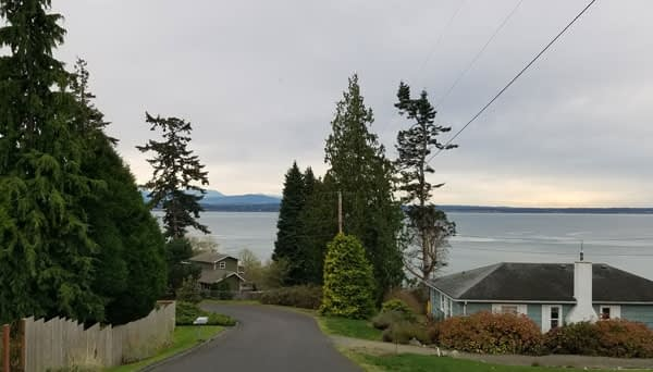 Road leading to Bush Point Beach on Whidbey Island, Washington image.