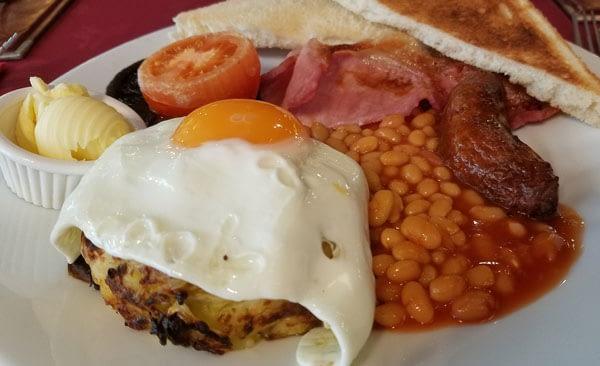 Full English breakfast, The Playa, Minster-on-Sea