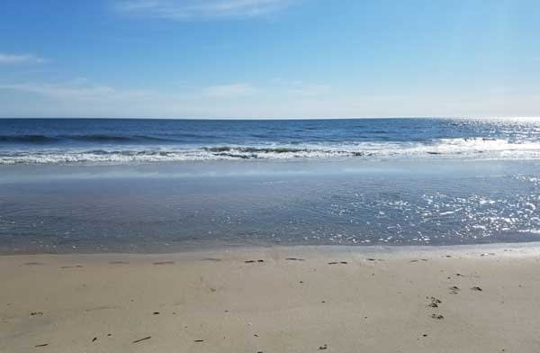 Waves at Point Pleasant beach, New Jersey.