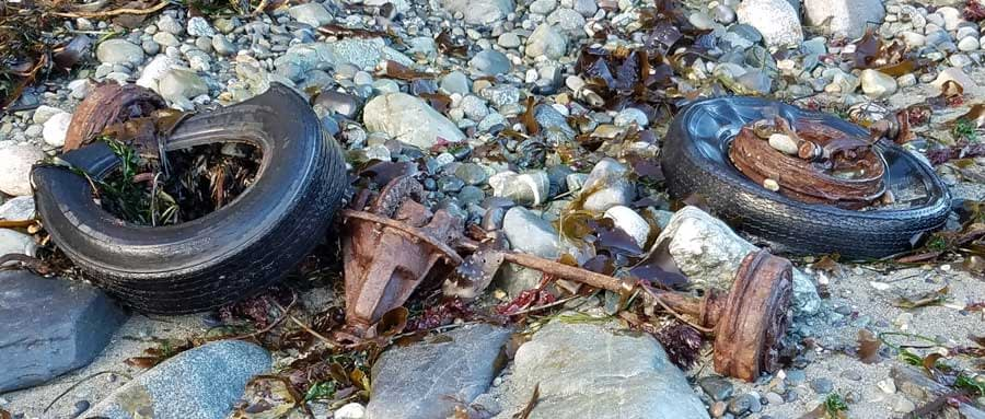 Unfortunately, the trash dumped at Port Townsend, Washington was not all glass!