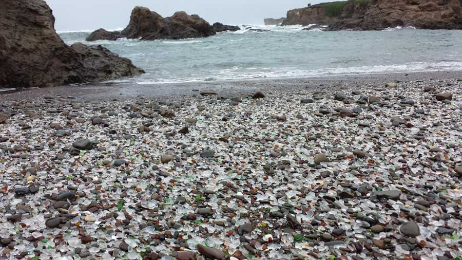 Imagine a beach, completely covered in sea glass!