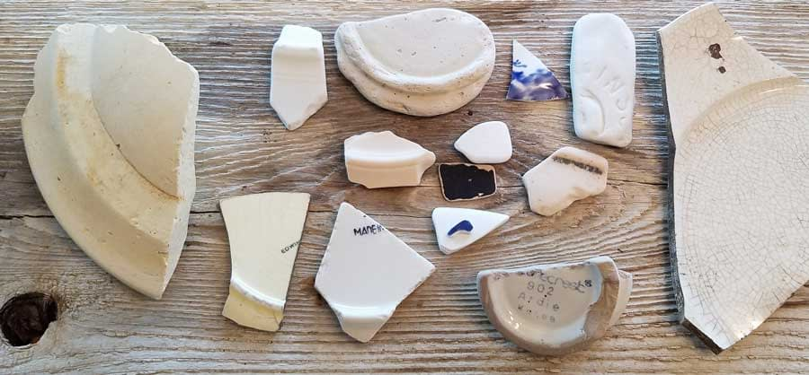 Sea pottery found at Coupeville, Whidbey Island