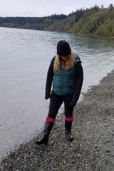 Sea glass hunting at Bush Point Beach, Whidbey Island, Washington