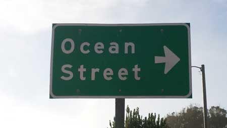 Ocean Street sign, Davenport