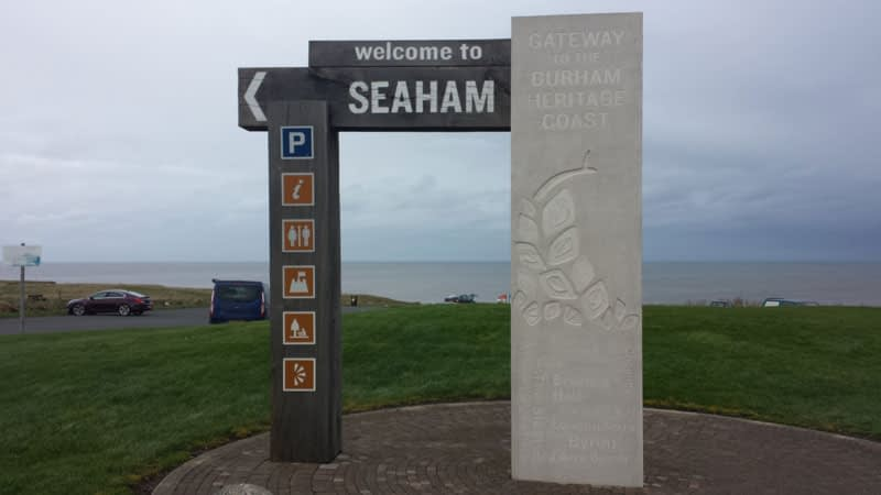 There is plenty of parking for sea glass collectors at Seaham Hall Beach