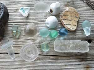Sea glass collected at Lyme Regis, Dorset