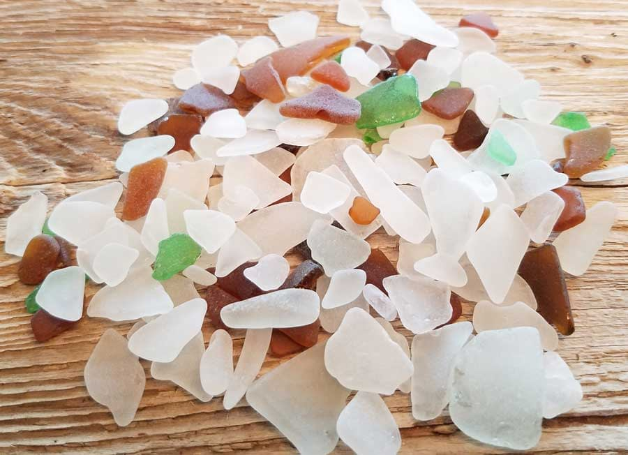 Sea glass found at Bush Point Beach, Whidbey Island