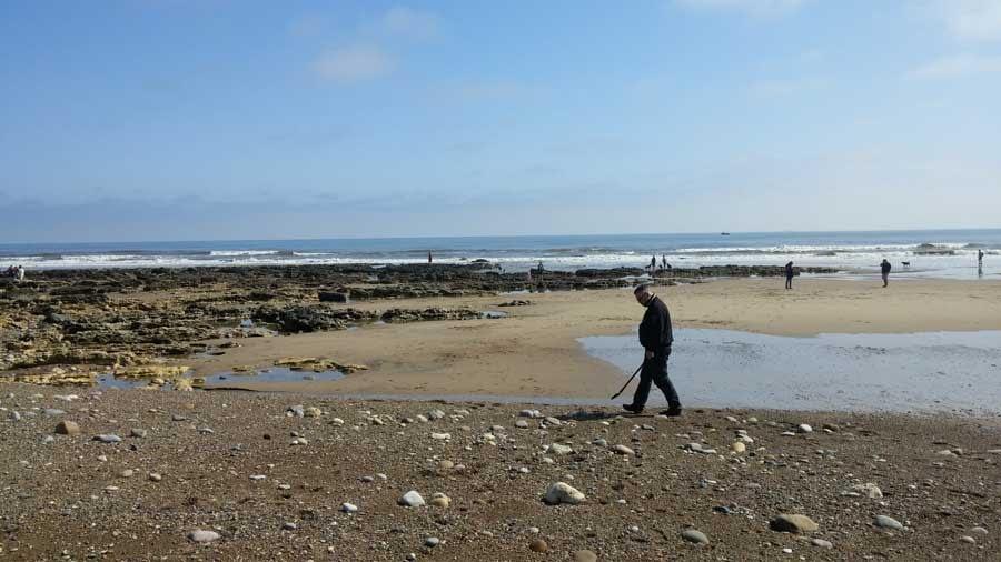 Sea glass hunting at Seaham Hall Beach