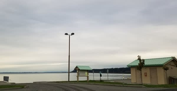 Boat ramp at Bush Point Beach on Whidbey Island, Washington.