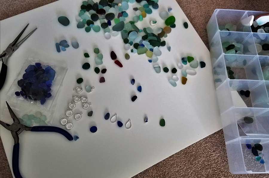 Making sea glass jewelry