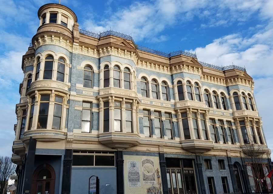 A grand building in downtown Port Townsend, Washington