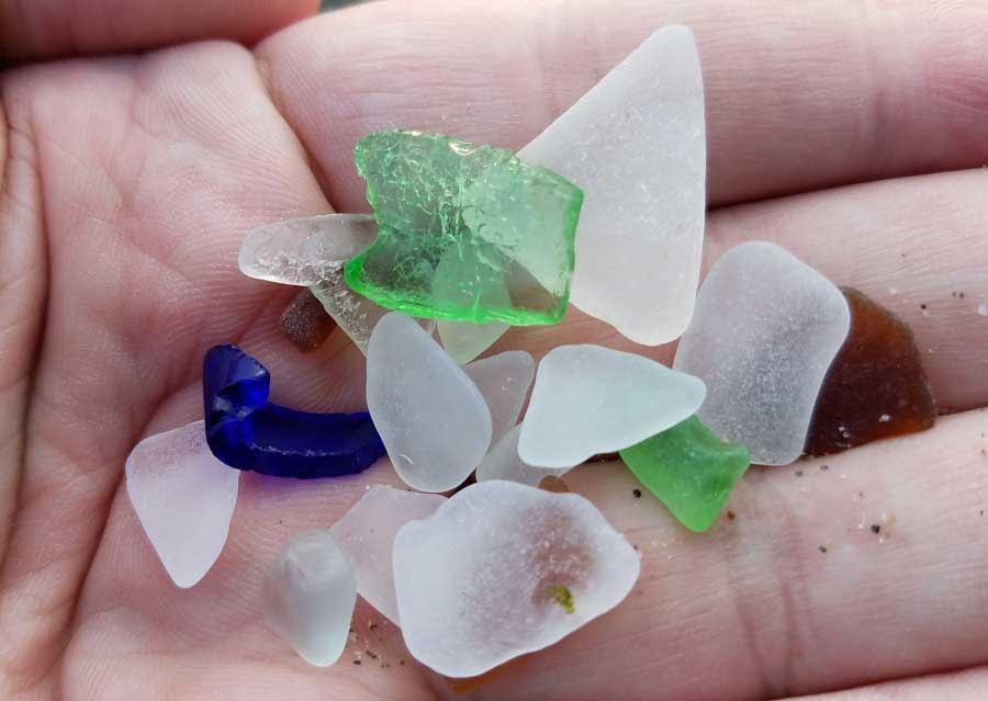 Sea glass found at Alki Beach, Seattle