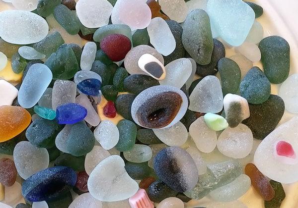 Multi sea glass from Seaham Beach, English sea glass.