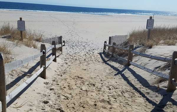 One of the many beach entrances on to Long Beach Island beaches.