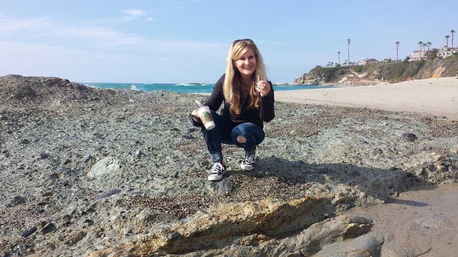 Sea glass hunting at Laguna Beach
