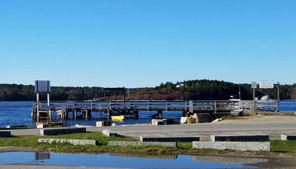 View of boat launch area at Fort Popham.