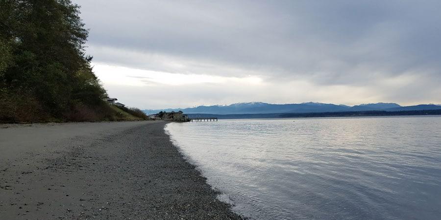 View of Bush Point Beach, Whidbey Island, Washington