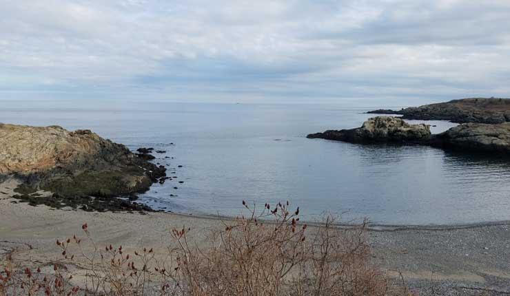 40 Steps Beach in Nahant Massachusetts.