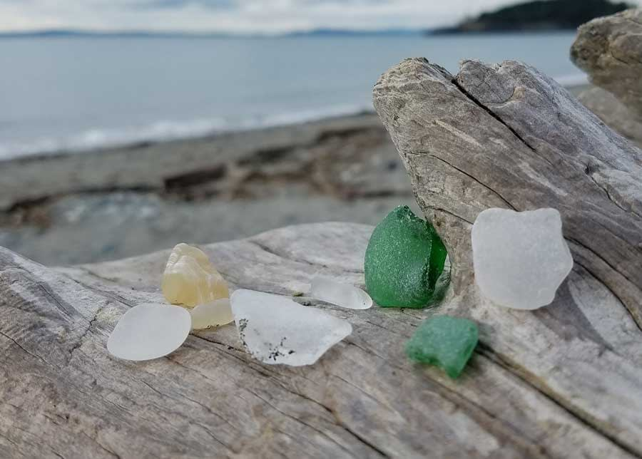 Sea glass found at Deception Pass State Park