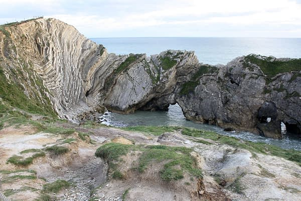 The Stair Hole at Lulworth Cove, Dorset.