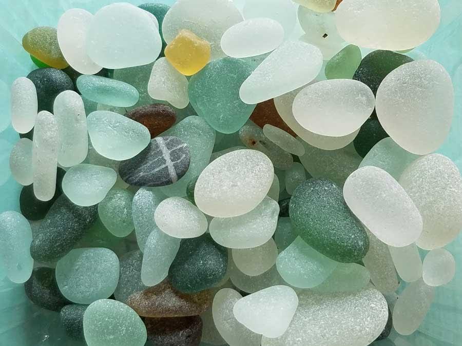Seaham sea glass pebbles