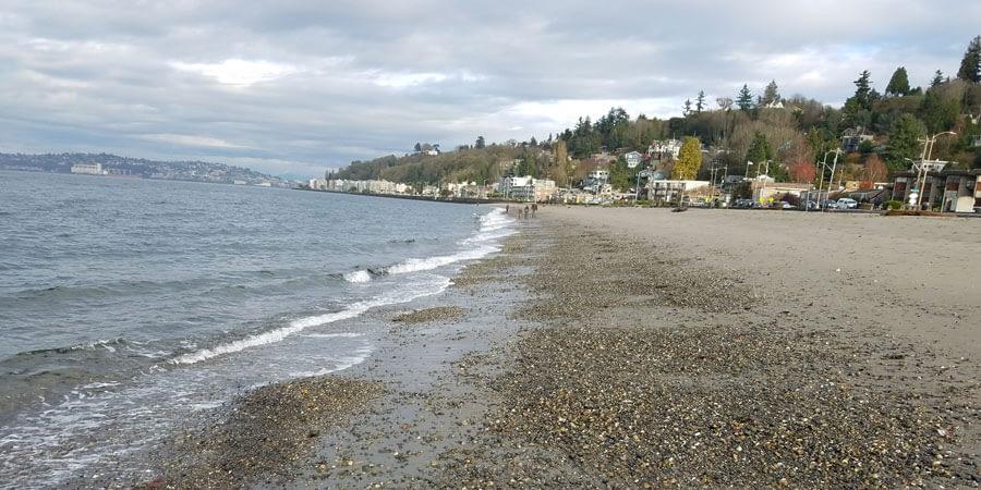 View of Alki Beach, Seattle, Washington