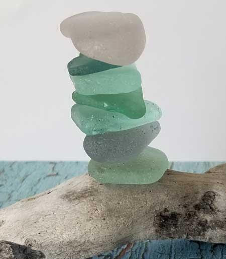Sea glass stack, Minster-on-Sea