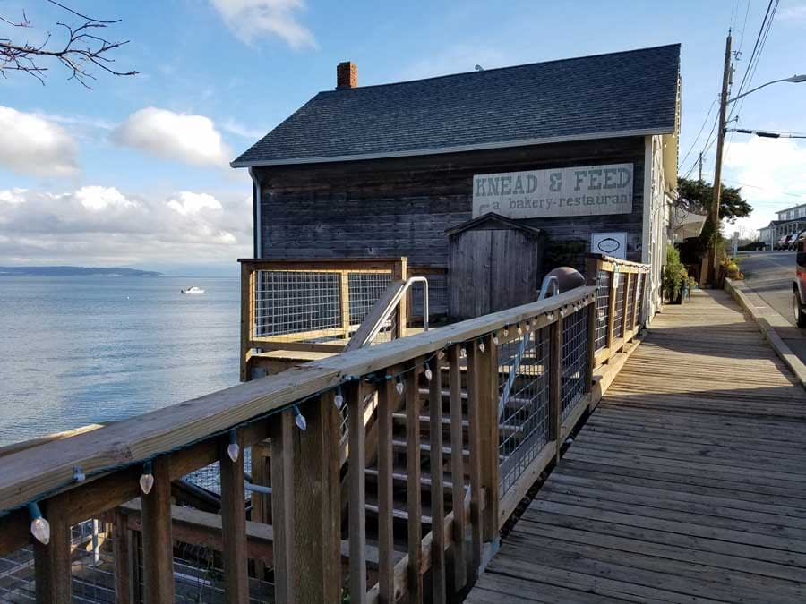 Front Street boardwalk at Coupeville, Whidbey Island
