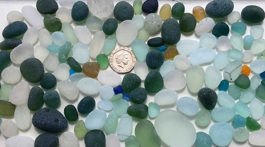 Frosted sea glass from Seaham, UK