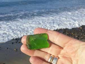 California sea glass found at Capistrano Beach