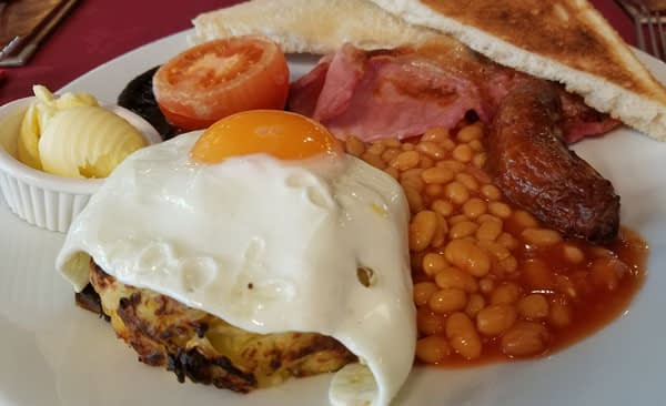 Full English breakfast, The Playa, Minster-on-Sea