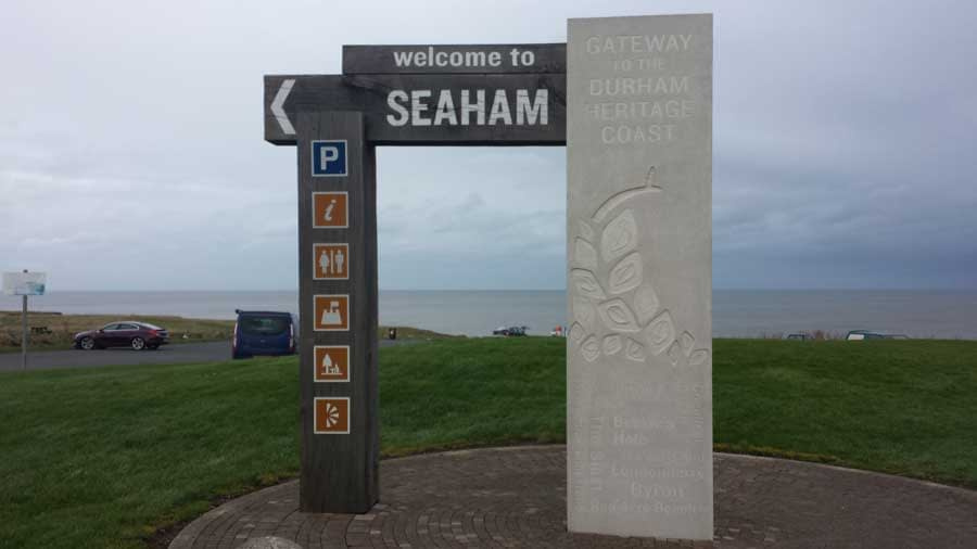 Welcome to Seaham sign