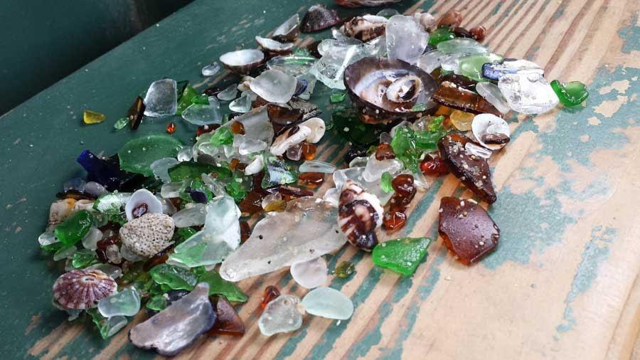 Sea glass found at Shell Beach, La Jolla