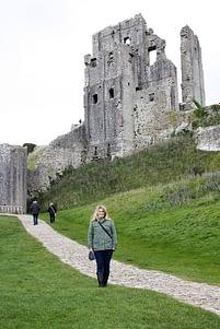 Corfe Castle, Dorset. National Trust protected site.