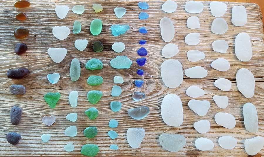 My favorite sea glass found at Glass Beach, Port Townsend